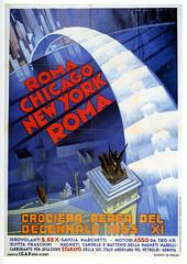 Trans-Atlantic Arc (paul.malon) Tags: italy chicago newyork rome roma 1930s italian aviation 1933 vintageposters artdecographics scannedandretouchedbypaulmalon