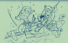 When Ewok Attack (riverbirds) Tags: sketch attack daily 365 ewoks