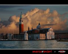 Sunset in Venice (marcorenieri) Tags: italy tramonto nuvole chiesa laguna venezia veneto gambassiterme marcorenieri dblringexcellence tplringexcellence