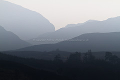 Shapes (amcgdesigns) Tags: sky misty eos march scotland highlands perspective calming scottish calm distance atmospheric cs4 canon100400mm lightroom3 eos7d lagganside andrewmcgavin