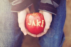 An apple a day (Jaime973) Tags: boy apple canon 50mm carved raw jake lol creative lovehimtopieces byhim florabellaclassicworkflow becausehesanartist