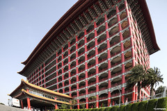 [architecture]  (grand-hotel) (pooldodo) Tags: red architecture grid chinese structure fisheye  hdr grandhotel     pooldodo