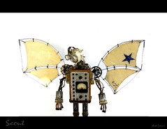 Scout (Tinkerbots) Tags: scout danjones tinkerbots steampunk dieselpunk robot scifi raygun comiccon retro vintage wings fly assemblage sculpture make machine rocket reuse remake cyberpunk sail character imagination