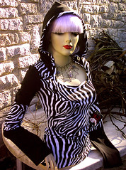 I made this hoodie... A characteristic You bad Girl design! (YOU-bad-GIRL fashions) Tags: woman white black cute art mannequin girl festival shirt dark fun design diy hoodie cool italian europe punk doll handmade top unique ooak gothic emo goth fringe blouse pixie fabric kawaii indie zebra jersey redlips wearable bangs rag couture postpunk ragdoll witchy madeinitaly badgirl rarity flared longsleeves squareneck cucitoamano youbadgirl lilachair shoppinggiftidea