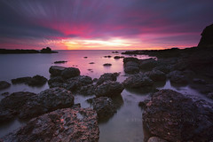A colourful morning. (Stuart Stevenson) Tags: longexposure sea sky seascape water photography scotland intense rocks angus vivid wideangle northsea colourful daybreak auchmithie clydevalley canon1740mm thanksforviewing canon5dmkii stuartstevenson stuartstevenson