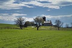 Lancaster PA Farm (Farm Bliss) (mik_leach) Tags: blue sky green grass barn spring farm silo pa lancaster bliss hdr