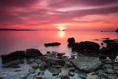 Sunset in Ankaran (Alja Vidmar | ADesign Studio) Tags: pink sunset sea clouds cokin gnd nd4x nd8x sunsetshore