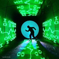 City boy (LED Eddie) Tags: camera lightpainting silhouette tunnel best binary a3 collaboration rotated lightpainter grandmaster ulimate camerarotation quornflake ledlenserx21 digitallightwand