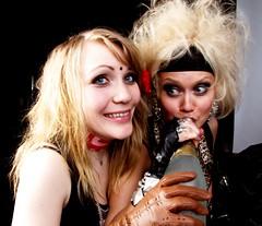 IPG & champagne (JO_Wass) Tags: girl rock finland hair photo promo helsinki shoot photoshoot champagne alcohol booze glam backstage behindthescenes sleaze backroom internationalpartygirls