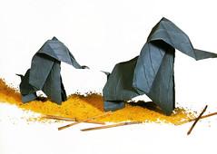 Origami création - Didier Boursin - Elephants