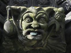 Yah boo sucks (shaggy359) Tags: blue eye fountain freeassociation face statue tongue stone nose scotland edinburgh jester head leer holyrood holyroodhouse forecourt leering