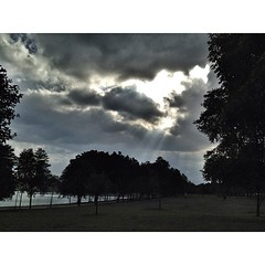 (.  .) Tags: clouds wednesday phonecam square walk reservoir squareformat normal iphoneography instagramapp uploaded:by=instagram iphone4s hallelujahrays