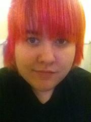 (Ty-Erin-Saurus Rex) Tags: portrait redhair pinkhair orangehair manicpanic multicoloredhair iphoneography
