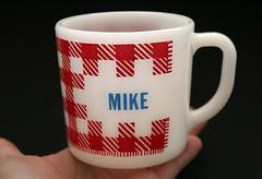 Vintage Mike Coffee Cup (seahoney) Tags: mike cup coffee mug vintagekitchen milkglass