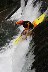 20ft drop Chiroro creek Kayaking extreme Japan