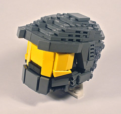 Mini Benny Brickster's Master Chief Helmet (Nick Brick) Tags: life 3 lego chief helmet halo mini size master benny wearable bricksters nickbrick