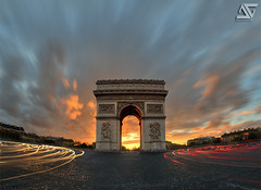 Xplosion (A.G. Photographe) Tags: longexposure sunset fish paris france french nikon raw arch champs elyses fisheye ag nd triumph fx 16mm arcdetriomphe hdr parisian anto d800 couchdesoleil filtre parisienne xiii parisien photomatix poselongue hdr1raw fils antoxiii blinkagain agphotographe bestofblinkwinners blinksuperstars oeilpoisson
