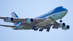 Air Force One (Brian Utesch (shutterBRI)) Tags: usa america plane canon fly nc airport triangle unitedstates aircraft president flight northcarolina raleigh presidential landing american airforceone land carolina boeing obama boeing747 747 2012 potus rdu barackobama carolinas uspresident shutterbri brianutesch presidentobama