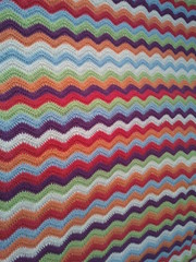 Crochet cot/crib ripple baby blanket (Alfin_Crafts) Tags: ripple crochet blanket afghan attic24