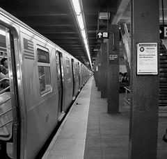 "A long train at Rock Center Subway • <a style=""font-size:0.8em;"" href=""http://www.flickr.com/photos/59137086@N08/6971773733/"" target=""_blank"">View on Flickr</a>"