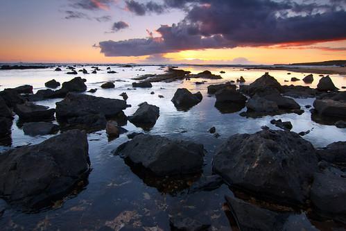 Salt Pond reef at sunset