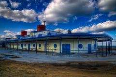 Smokin Stacks (rseidel3) Tags: blue sky chicago beach clouds nikon ship north northbeach avenue hdr d7000