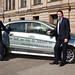 Michael Kloth and Andreas Scheuer posing with F-Cell car in Berlin