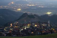 Fraxern by night (hollmarran) Tags: austria rheintal 2012 vorarlberg fraxern
