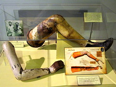 Artificial Limbs (Piedmont Fossil) Tags: museum arm leg artificial iowa civilwar historical desmoines amputee