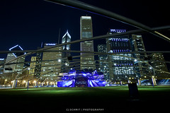Music in the City (CJ Schmit) Tags: city longexposure urban music usa chicago night canon illinois concert lowlight downtown unitedstates stage millenniumpark jaypritzkerpavilion canonef1740mmf40lusm fortdearbornaddition 5dmarkii canon5dmarkii cjschmit wwwcjschmitcom cjschmitphotography