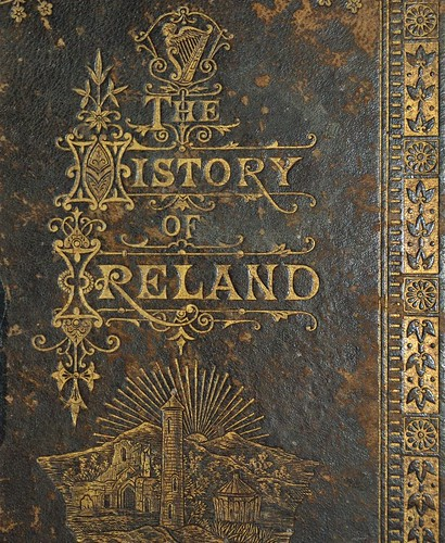 History of Ireland 1883 - gilt impressed title