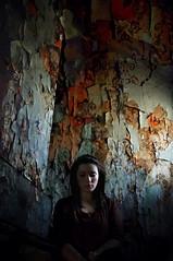 (emmakatka) Tags: wallpaper portrait house abandoned girl vintage peeling alone northdakota derelict abandonment chipping