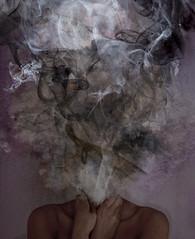 stop {EXPLORE} (FrozenMoments) Tags: dark hands smoke grain help stop depression bones shoulders grainy frustration strangled healme