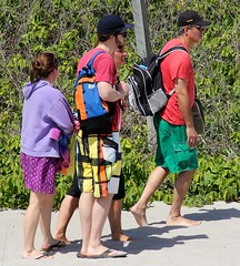 Beachgowers (LarryJay99 ) Tags: ocean family sky people urban beach walking beard pier sand legs personal florida handsome places guys dude atlantic capes backpacks barefoot flipflops beaches backgrounds barefeet shorts facialhair atlanticocean cargopants junobeach floridabeaches stockcategories braghettoni canonefs18135mmf3556is ilobsterit