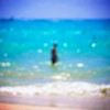 Cast no shadow (Mister Blur) Tags: analogapp booster rivieramaya playadelcarmen bokeh bokehdots waves sand sea desenfoque olas mar blurred silhouette man nikon d7100 aperture noel gallagher oasis fragmentosdeluz gracias inspired noelgallagher