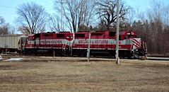 WSOR 3810 & 3813 (L595) (SW Rail Photos) Tags: train freighttrain emd gp382 wsor wisconsinsouthern l595 localfreight oshkoshsub