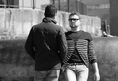 People on the Bay 01 (Just Ard) Tags: street uk people urban bw white black wales photography nikon candid cymru cardiff streetphotography 85mm caerdydd thebay cardiffbay d7000 justard
