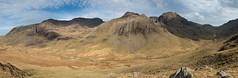 Scafells Panoramic (H4RSX) Tags: uk greatbritain england mountains rock stone landscape rocks unitedkingdom lakedistrict nobody panoramic erosion scafell scafellpike moorland escarpment expanse riveresk eskhause greatend illcrag slightside