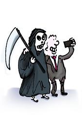 Death Selfie (Moz the Cartoonist) Tags: uk cartoon moz cartoonist
