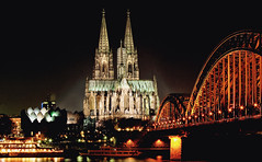 Pont et cathdrale de Cologne (Allemagne) (jjcordier) Tags: cologne cathdrale pont allemagne gothique chemindefer rhin westphalie
