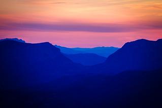 Colores del Atardecer Sierra Sur de Jaén