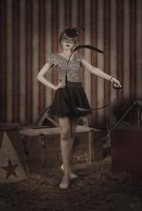 """The Acrobat training"" with Maria of M&M fashion bites (composites) (SpirosK photography) Tags: portrait fashion composite costume photoshoot circus maria athens greece whip acrobat whiterabbit    spiroskphotography mmfashionbites"