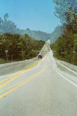 (pop archaeologist) Tags: film car vertical canon highway kodak doubleexposure northcarolina roadtrip multipleexposure 28105 gold200 eosa2e