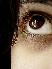 il mio occhio marrone (iliturner) Tags: foto occhio marrone riflesso