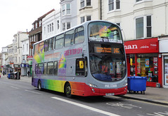 B&H 439 - BF12KXS - OSF - NORTH STREET BRIGHTON - WED 17TH FEB 2016 (Bexleybus) Tags: buses ahead coast eclipse volvo town brighton all phil hove south centre go over diversity pride advert and gemini starr bh in 439 goahead wrightbus bf12kxs