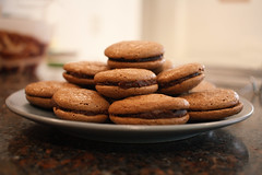 Macarons (jessica-h) Tags: food french baking yummy chocolate plate patisserie macarons chocolatemacarons