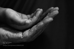 Hands (tycampbe) Tags: old family two people love togetherness holding adult candid grandfather happiness mature grandchild series connection bonding 500px ifttt