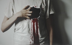 Heartbroken (KaiaPieters) Tags: love blood sad ripped bleeding heartbreak heartbroken