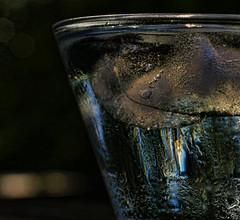 Ice Cold (Sun Dogs & Daylilies) Tags: ice glass reflections outdoors lumix prime panasonic condensation hmm 45mm gx8 mft hotcold panasoniclumix macromondays macromonday couldbeboth microfourthirds happymacromonday couldbecold dmcgx8 couldbehot