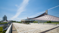 General view of Yoyogi National Gymnasium 1, 2 () (christinayan01) Tags: building architecture tokyo perspective olympic kenzo gymnastic 2020 tange